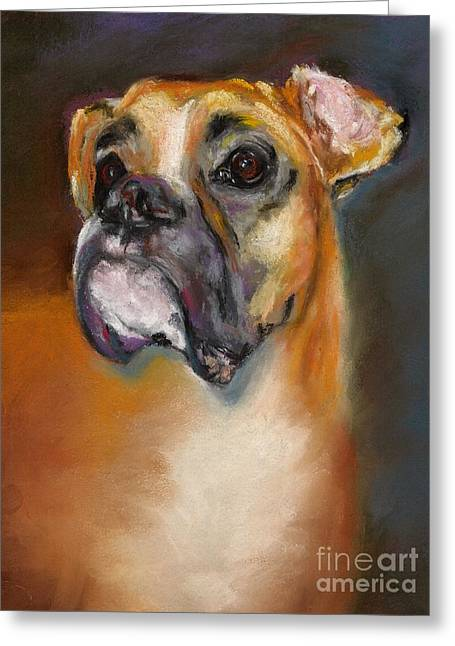 Canines Pastels Greeting Cards - Sam Greeting Card by Frances Marino