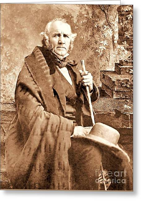 Governors Greeting Cards - Sam Houston Greeting Card by Pg Reproductions