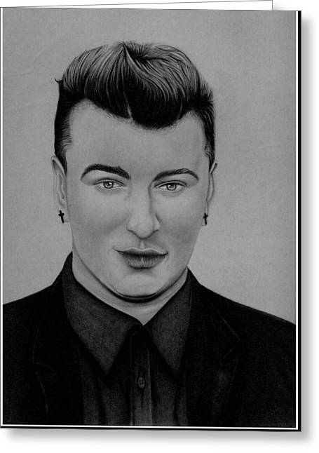 British Celebrities Greeting Cards - Sam Smith Greeting Card by Reed Miller