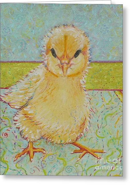 Farm Animals Pastels Greeting Cards - Sammy Peeps Greeting Card by Christine Belt