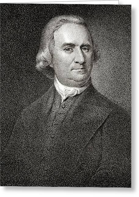 Samuel Adams 1722 To 1803 American Greeting Card by Vintage Design Pics