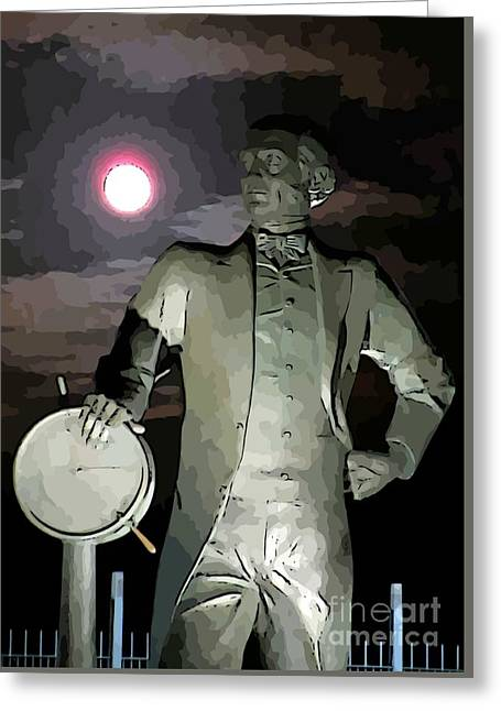 Famous Photographer Greeting Cards - Samuel Cunard Views the Full Moon Greeting Card by John Malone