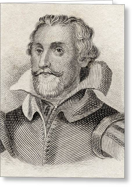 Historian Drawings Greeting Cards - Samuel Daniel, 1562 To 1619. English Greeting Card by Vintage Design Pics
