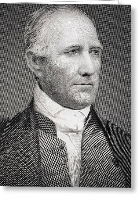 President Of America Drawings Greeting Cards - Samuel Houston 1793-1863 American Greeting Card by Ken Welsh