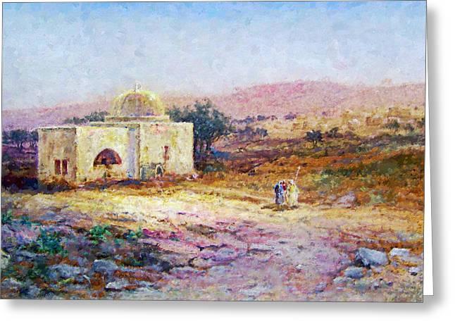 Samuel Lawson Tomb Of Rachel 1900 Greeting Card by Munir Alawi