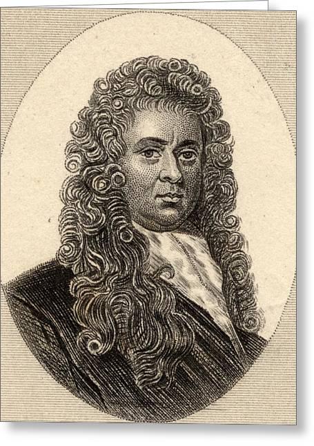 Pepys Greeting Cards - Samuel Pepys, 1633-1703. Diarist And Greeting Card by Ken Welsh
