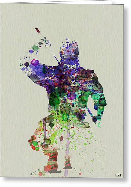 Geisha Greeting Cards - Samurai Greeting Card by Naxart Studio