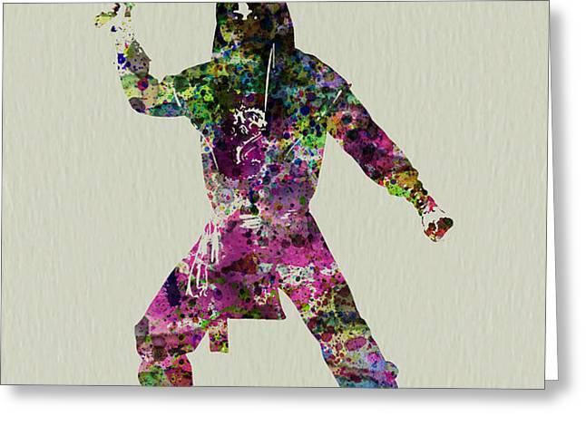 Samurai with a sword Greeting Card by Naxart Studio