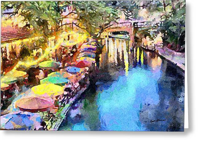 Caruso Greeting Cards - San Antonio River Walk Greeting Card by Anthony Caruso