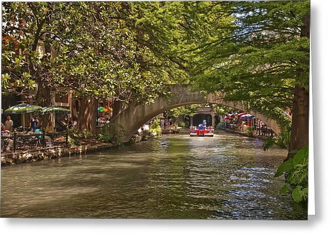 Riverwalk Photographs Greeting Cards - San Antonio Riverwalk Greeting Card by Steven Sparks