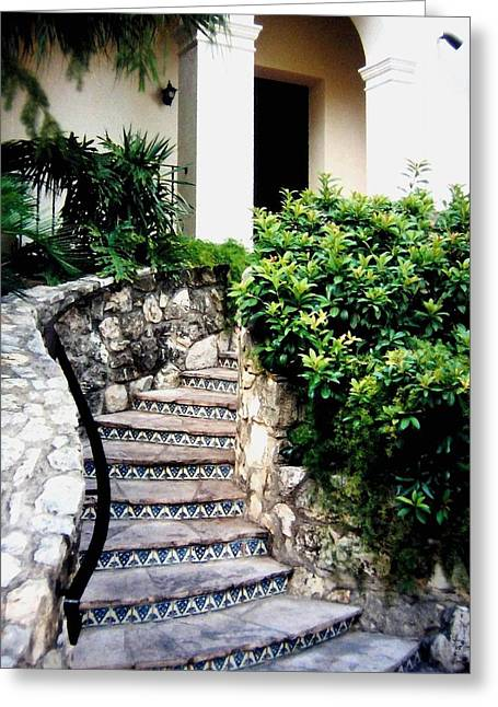 Del Rio Texas Greeting Cards - San Antonio Stairway Greeting Card by Will Borden