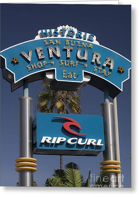 Ventura California Greeting Cards - San Buena Ventura Greeting Card by David Bearden