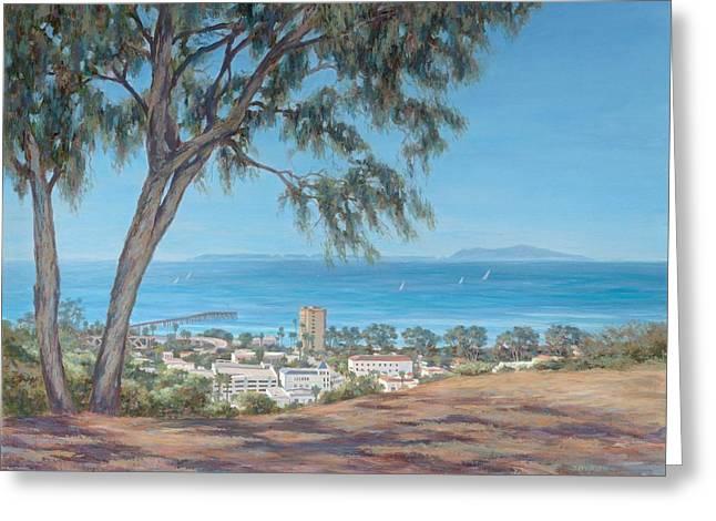 Ventura Pier Greeting Cards - San Buenaventura Greeting Card by Tina Obrien
