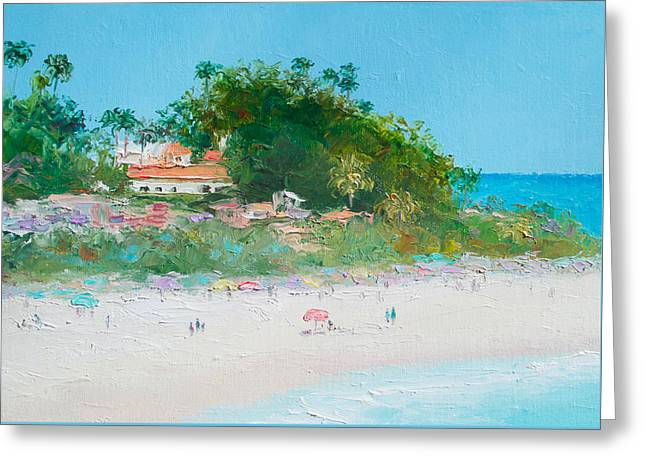 Clemente Paintings Greeting Cards - San Clemente Beach Art  Greeting Card by Jan Matson