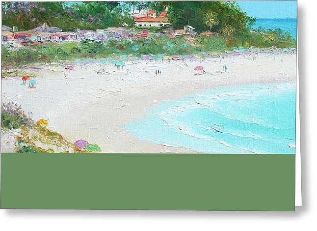 Clemente Paintings Greeting Cards - San Clemente Beach California Greeting Card by Jan Matson