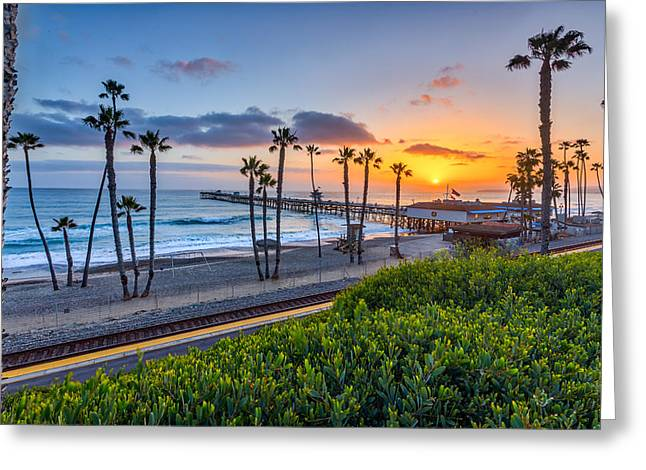 California Beach Greeting Cards - San Clemente Greeting Card by Peter Tellone