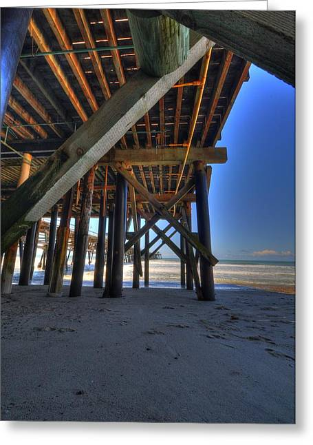 Clemente Greeting Cards - San Clemente Pier Greeting Card by Kelly Wade