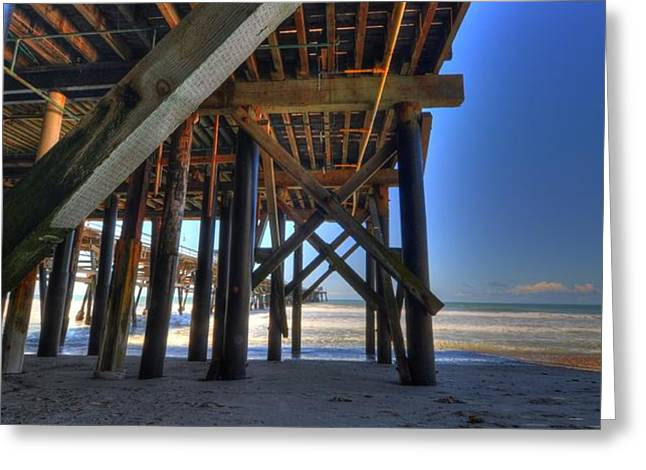 San Clemente Pier Greeting Card by Kelly Wade