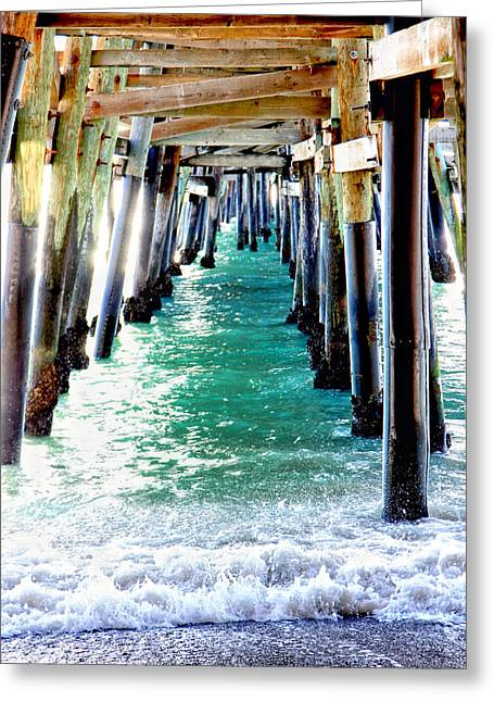 Clemente Greeting Cards - San Clemente Pier Greeting Card by Rosanne Nitti