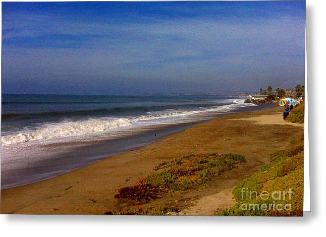 San Clemente Saturday Greeting Card by Tracy Evans