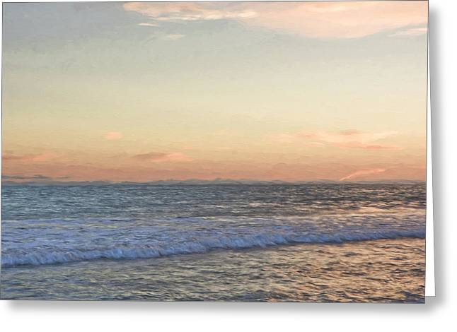 Clemente Mixed Media Greeting Cards - San Clemente Sunset Greeting Card by Susan Lupton