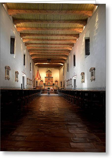 Jesus Christ Greeting Cards - San Diego de Alcala Greeting Card by Christine Till