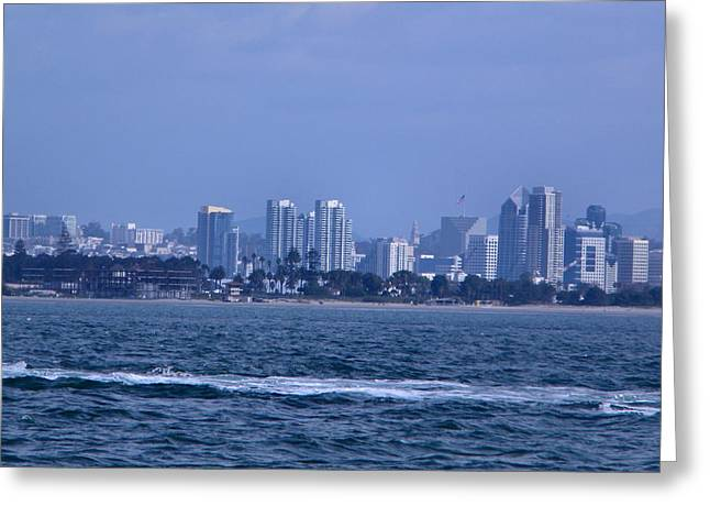 Citys Greeting Cards - San Diego Greeting Card by Guillermo Mason