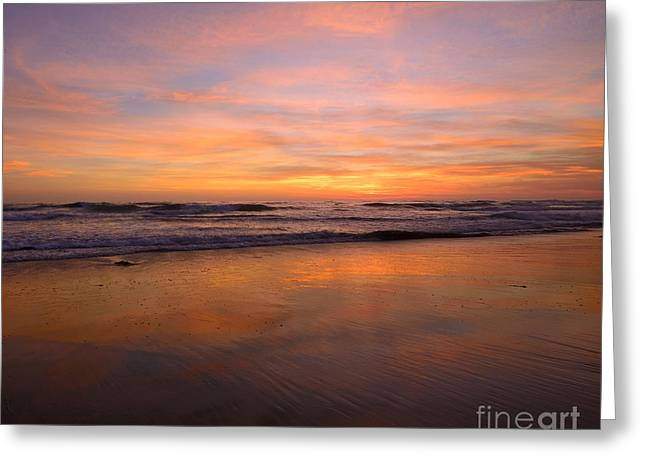 Pacific Ocean Prints Greeting Cards - San Diego Sunset Greeting Card by John Tsumas