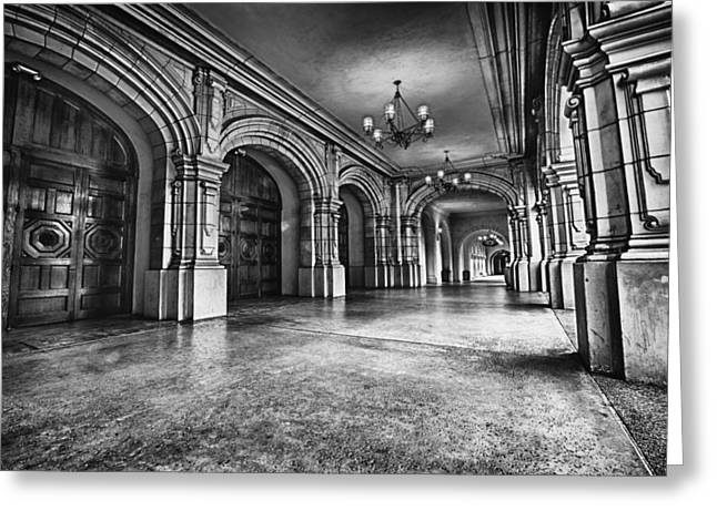 Black And White Hdr Greeting Cards - San Diegos Historic Balboa Park Greeting Card by Larry Marshall