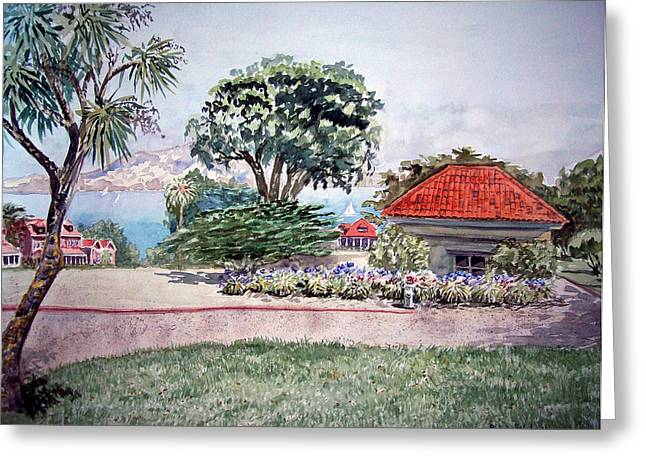Pacific Ocean Prints Greeting Cards - San Francisco - Park Presidio Greeting Card by Irina Sztukowski