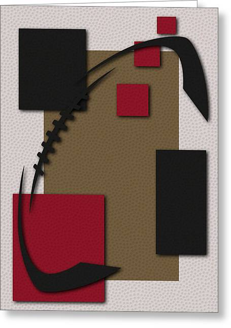 San Francisco 49ers Football Art Greeting Card by Joe Hamilton