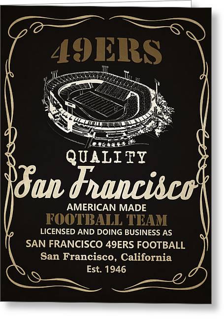 San Francisco 49ers Whiskey 2 Greeting Card by Joe Hamilton