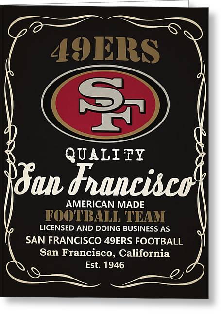 San Francisco 49ers Whiskey Greeting Card by Joe Hamilton