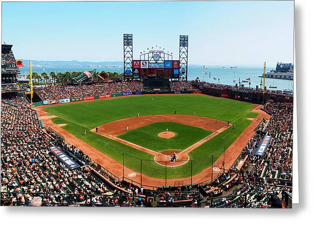 China Cove Greeting Cards - San Francisco Ballpark 2 Greeting Card by C H Apperson