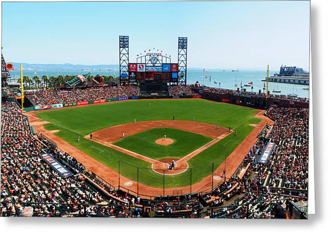 China Cove Greeting Cards - San Francisco Ballpark Greeting Card by C H Apperson