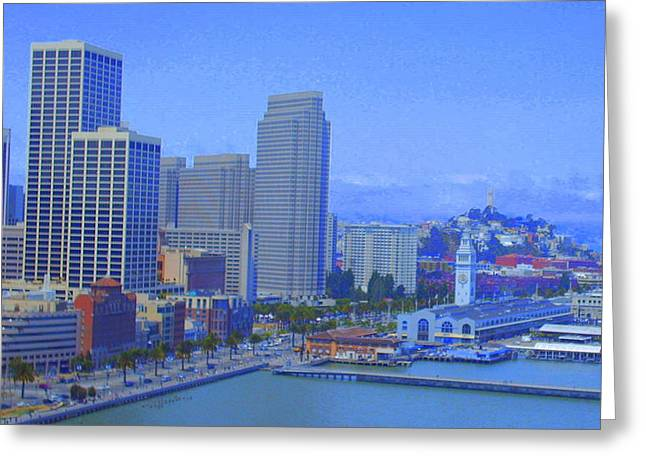 Cityscene Greeting Cards - San Francisco Bay  Greeting Card by Julie Lueders