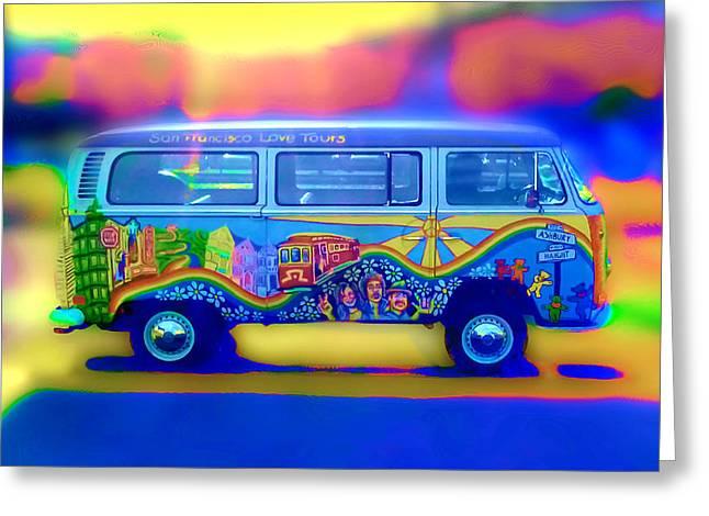 San Francisco Bus Greeting Card by Natalia Shcherbakova