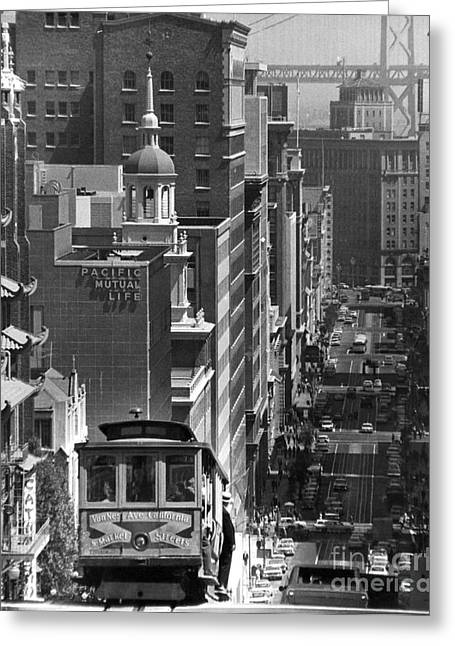 Street Scenes Greeting Cards - SAN FRANCISCO, c1950 Greeting Card by Granger