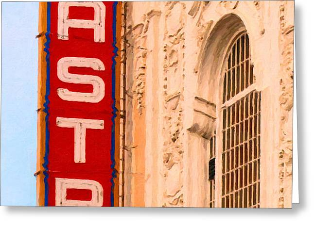 San Francisco Castro Theater Greeting Card by Wingsdomain Art and Photography