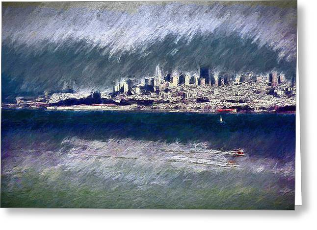 San Francisco - City And Bay Greeting Card by Steve Ohlsen