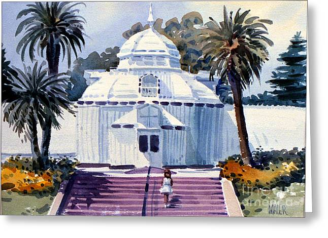Golden Gate Park Greeting Cards - San Francisco Conservatory Greeting Card by Donald Maier