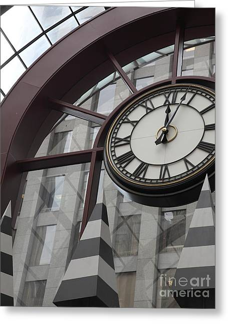 Clock Shop Greeting Cards - San Francisco Crocker Galleria - 5D17908 Greeting Card by Wingsdomain Art and Photography