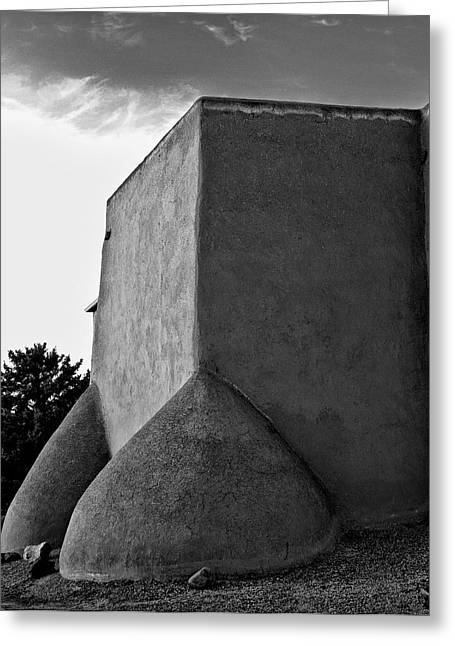 Southwest Church Greeting Cards - San Francisco de Asis Mission Church 6 Greeting Card by Lou  Novick