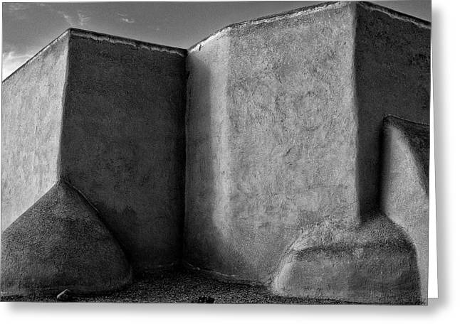 Southwest Church Greeting Cards - San Francisco de Asis Mission Church Greeting Card by Lou  Novick