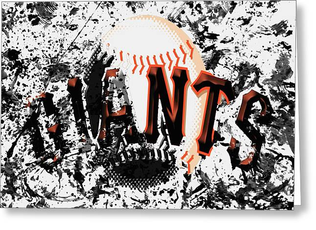 San Francisco Giants 6a Greeting Card by Brian Reaves