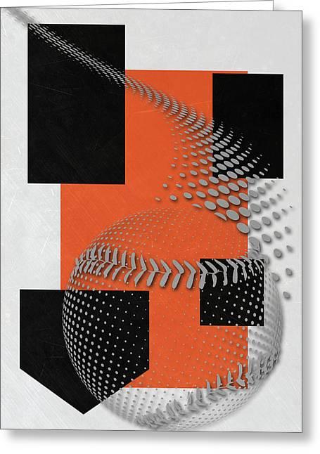 San Francisco Giants Art Greeting Card by Joe Hamilton
