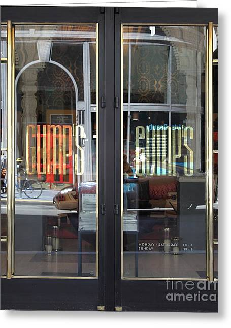 Downtown San Francisco Greeting Cards - San Francisco Gumps Department Store Doors - Full Cut - 5D17094 Greeting Card by Wingsdomain Art and Photography