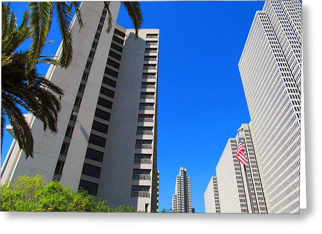 Union Square Greeting Cards - San Francisco Highrise Greeting Card by Tina M Wenger