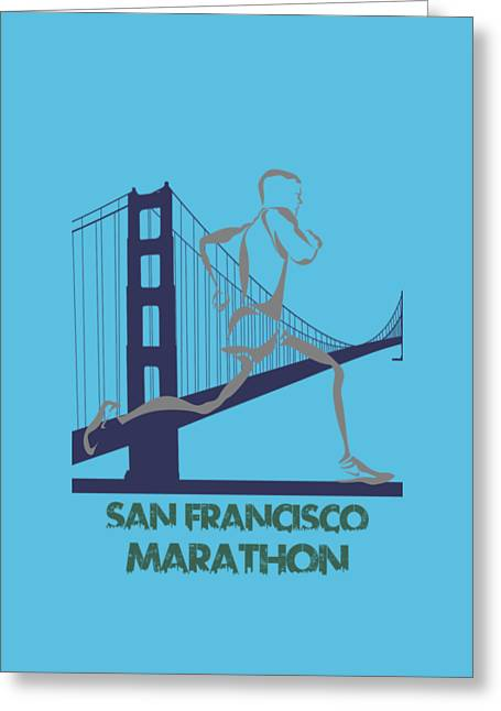 Nike Greeting Cards - San Francisco Marathon2 Greeting Card by Joe Hamilton