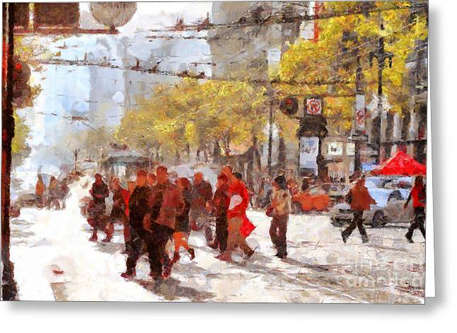 San Francisco Market Street . 40d3701 Greeting Card by Wingsdomain Art and Photography